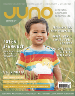 Juno magazine with powered by plants feature